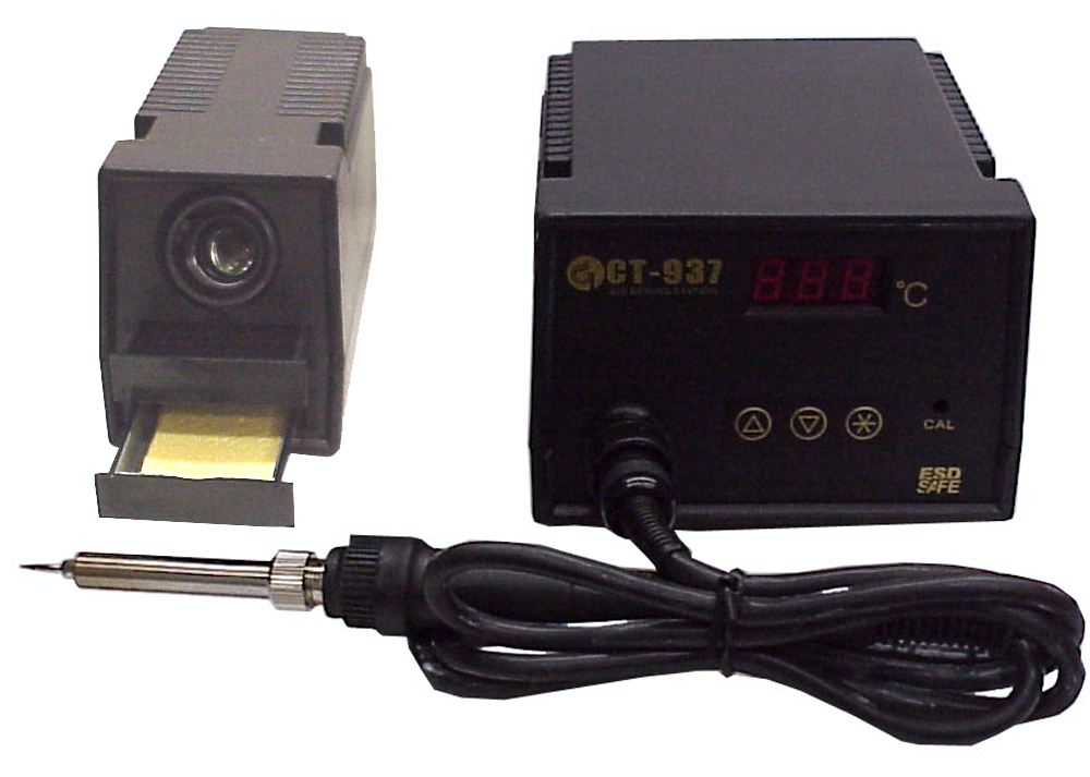 50W Soldering Station, ESD Safe, Microprocessor Controlled, with 3 Digit LCD Display JCT-937ESD-Tools-CT-Jayso Electronics