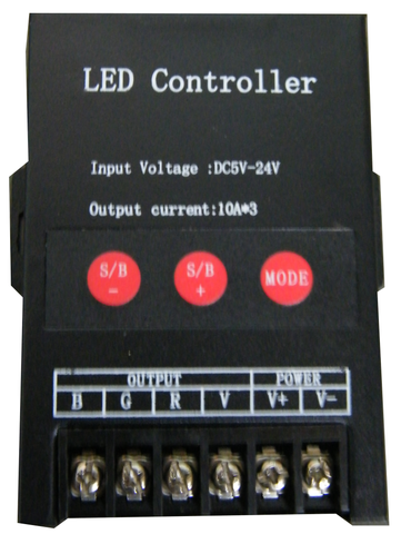 5~24 Volt 30A Pixel Light Controller EC-LED-RGBCTR-5-24V-LED Lighting-Various-Jayso Electronics