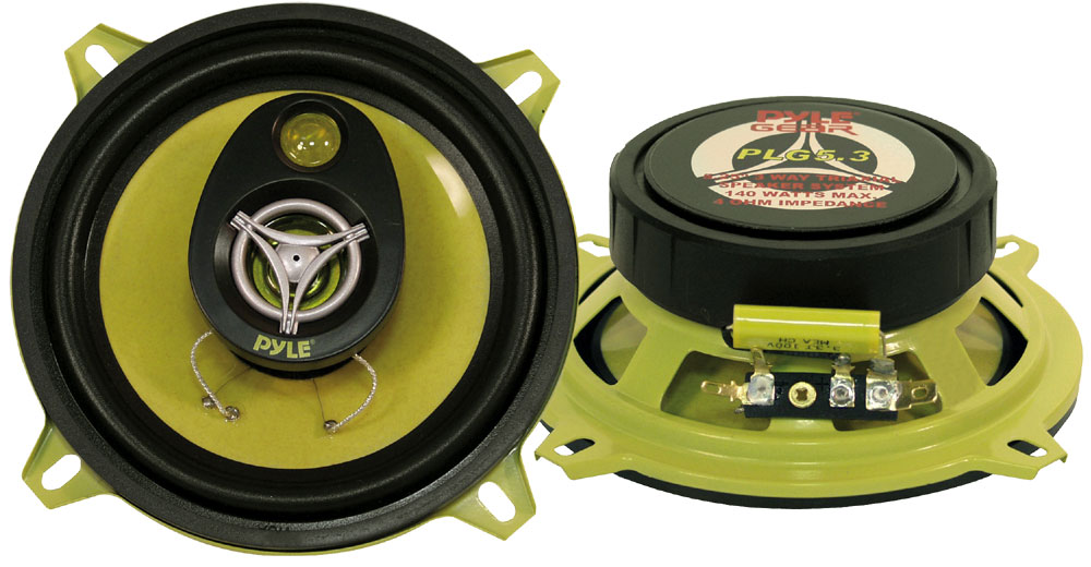 5.25'' 140 Watt Three-Way Round Speakers (Pair) PLG5.3-Automotive Accessories-Various-Jayso Electronics