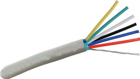 6 Conductor Shielded Stranded Cable - 22 Gauge, 500' Roll JAFS6-22/500-Wire & Cable-Various-Jayso Electronics