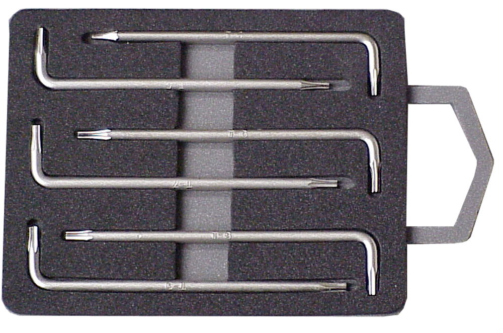 6 Pc. Miniature Torx® Key Set JTK-3616C-Tools-Various-Jayso Electronics