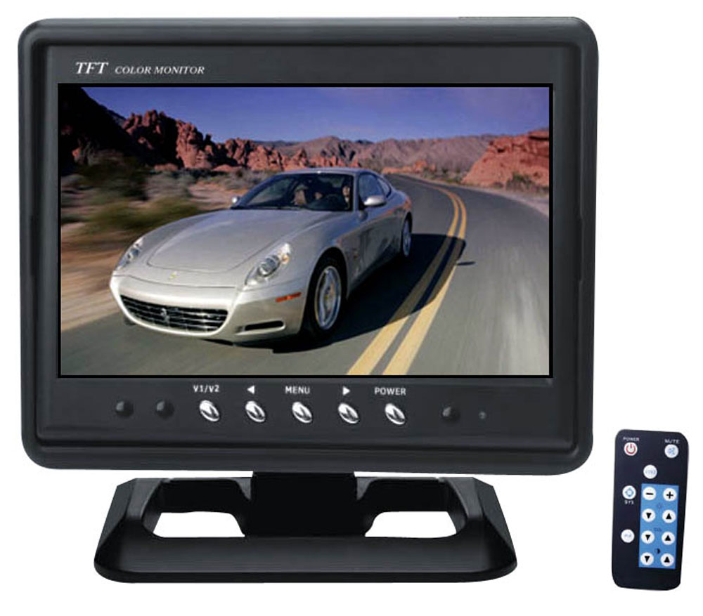 "7"" LCD Video Monitor, TFT Active Matrix 16:9 Wide Screen PLHR70-Security Cameras & Recorders-Pyle-Jayso Electronics"