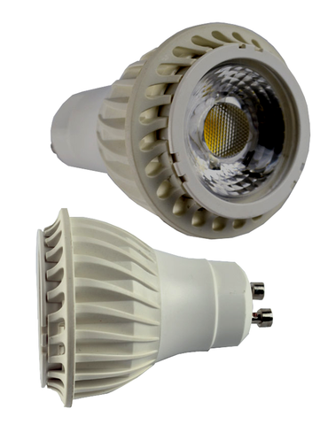 7 Watt Dimmable COB LED Spotlight with GU10 Base, White EC-STLED-7W-COB-W-CW-LED Lighting-EC-Jayso Electronics