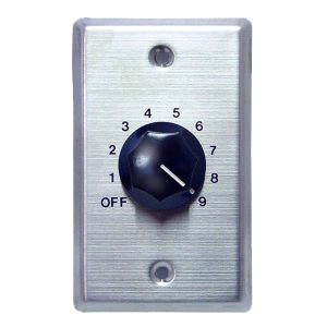 70/25W In-Wall Volume Control, Stainless Steel WAT10-Amplifiers & PA Systems-Various-Jayso Electronics