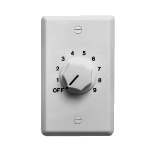 70/25W In-Wall Volume Control, White WAT10W-Amplifiers & PA Systems-Various-Jayso Electronics