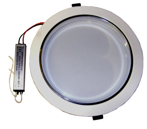 "7.4"" Round 15 Watt LED Downlight, Euro-Style, with LED Driver EC-RDL-15W-LED Lighting-Elyssa Corp.-Jayso Electronics"
