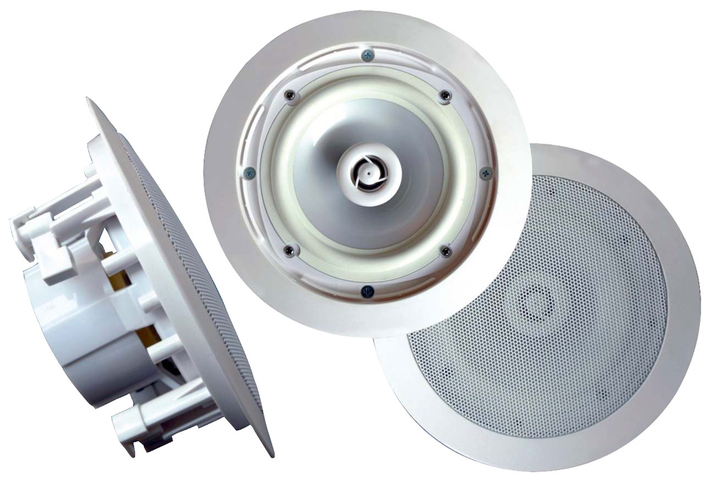 "8"" 2-Way In-Ceiling Speakers, Weatherproof, Round, PWRC81-Home Theater & Audio-Various-Jayso Electronics"