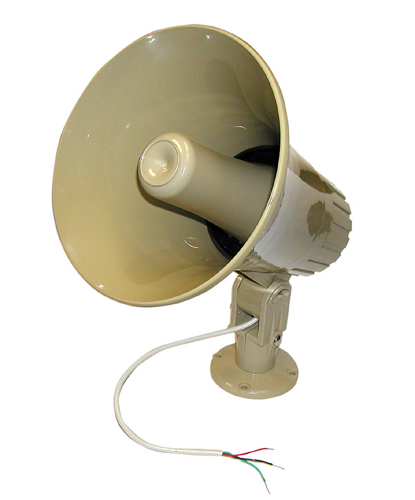 "8"" Indoor/Outdoor Multi-Purpose Paging Horn w/ Built-in Dual Matching Transformer 70V/25V/8 JHS-17T-Amplifiers & PA Systems-Various-Jayso Electronics"