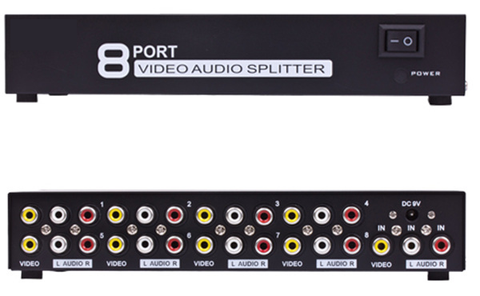 8-Port Audio / Video Splitter JVS-8AV-Home Theater & Audio-Various-Jayso Electronics