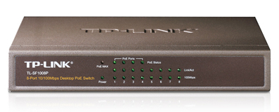 8-Port Desktop Switch with 4-Port PoE, 10/100 Mbps J-SF1008P-Computer & Accessories-Various-Jayso Electronics