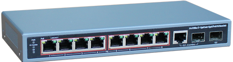 8-Port Ethernet Switch with 8-Port PoE, 10/100 Mbps JTI-PDE8GF-125-Computer & Accessories-Various-Jayso Electronics