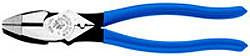 "9"" Side Cutting Pliers, High Leverage, with Ultra-Durable Hardened Cutting Blades & Crimping Die, KLEIN D2000-9NE-CR-Tools-Klein-Jayso Electronics"