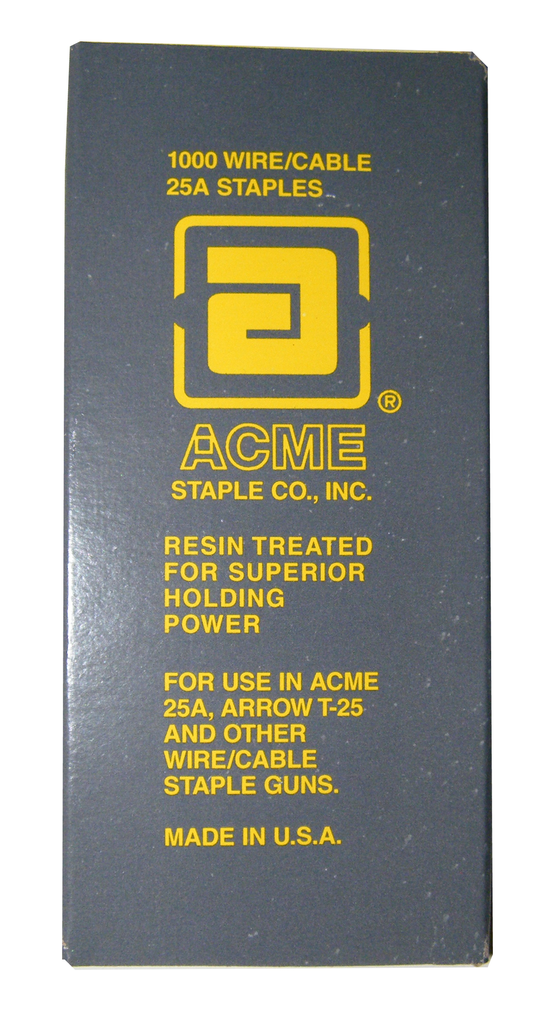 "Acme Staples 1/4""x9/16"" Box of 1,000 S25A916/1000-Tools-Acme-Jayso Electronics"