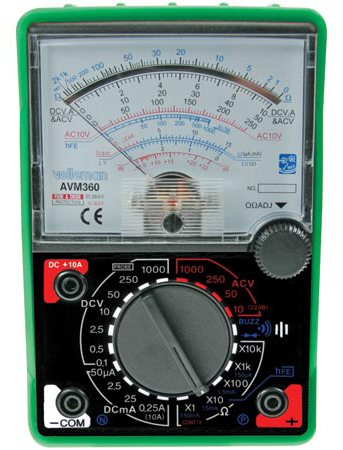 Analog Multi-Meter With Shock Resistant Jacket JAM-360-Tools-Various-Jayso Electronics