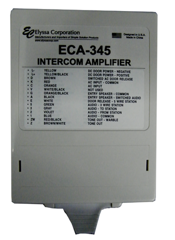 Apartment Intercom Amplifier, Universal, ECA-345-Intercom Systems-EC-Jayso Electronics