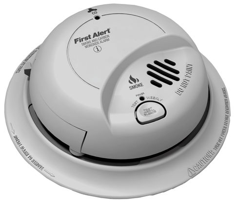 BRK Smoke/Carbon Monoxide Detector, 9V Battery Powered SC02B-Alarm Systems-Various-Jayso Electronics