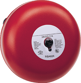 "Burglar/Fire Alarm Bell, 24VDC, 8"" JEMBA-8-24-Alarm Systems / Notification Devices-Various-Jayso Electronics"
