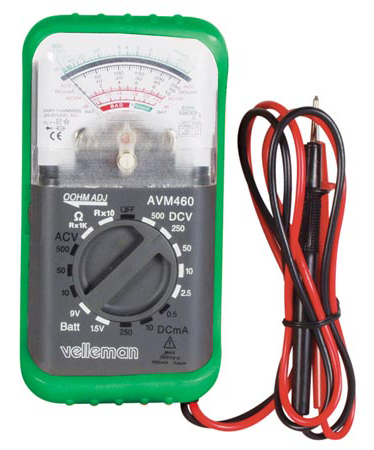Compact Analog Multi-Meter With Shock Resistant Jacket JAM-460-Tools-Various-Jayso Electronics