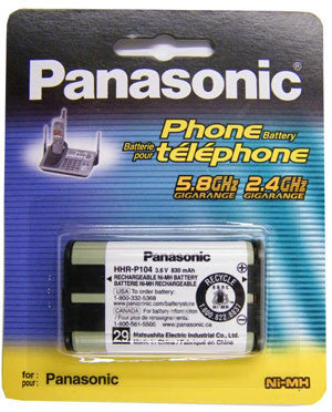 Cordless Telephone Battery, Panasonic, Type 29, HHR-P104A/1B-Batteries, Power Supplies, & Transformers-Panasonic-Default-Jayso Electronics