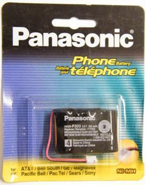 Cordless Telephone Battery, Panasonic, Type 4, P-P303PA-Batteries, Power Supplies, & Transformers-Panasonic-Default-Jayso Electronics