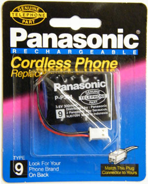 Cordless Telephone Battery, Panasonic, Type 9, P-P304PA-Batteries, Power Supplies, & Transformers-Panasonic-Default-Jayso Electronics