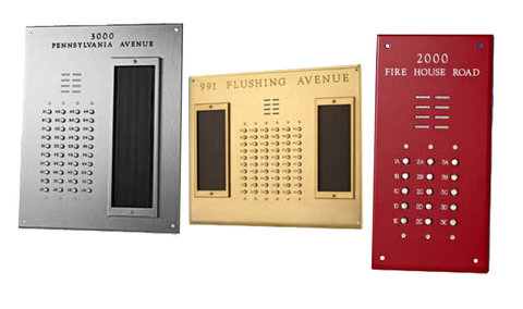 Custom Built Lobby Panel for Apartment Entry Intercom Systems-Intercom Systems-Various-Jayso Electronics