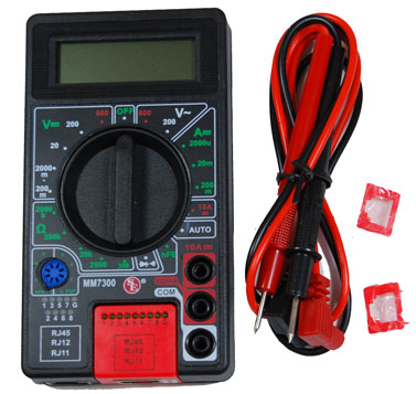 Digital Multi-Meter With Phone/Network Cable Tester JMM-7300