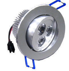 Dimmable LED Recessed Light, 3 Watt, Adjustable, Super Bright, EC-LED-3WR-LED Lighting-EC-Jayso Electronics
