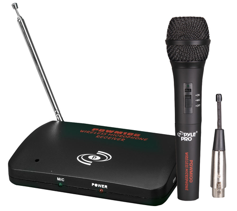 Dual Function Wireless or Wired Microphone System PDWM100-Amplifiers & PA Systems-Soundaround-Jayso Electronics
