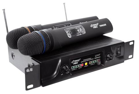 Dual UHF Wireless Microphone System PDWM2600-Amplifiers & PA Systems-Soundaround-Jayso Electronics