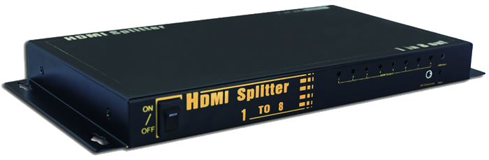 HDMI 8-Way Video Splitter JVS-HDMI8-Home Theater & Audio-Various-Jayso Electronics
