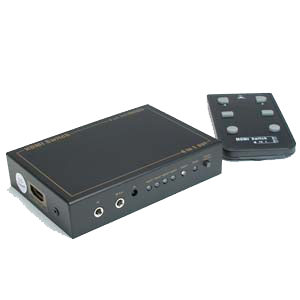 HDMI Remote Controlled 4-Way Video Switcher JAC-HDMI4-Home Theater & Audio-Various-Jayso Electronics