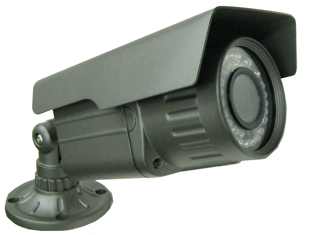 High-Res Bullet Camera w/ Varifocal Lens, IR, Outdoor, Color JVBC-02B-Security Cameras & Recorders-Various-Jayso Electronics
