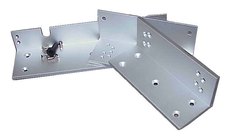 Inswinging Door Mounting Bracket Set For EC-MAG1200 Electromagnetic Lock EC-ZB-1200-Access Controls-EC-Jayso Electronics
