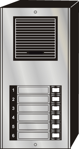 Intercom Door Entry Panel, 6 Button, Economy Style, Aluminum, Surface Mount JLP-006S-Intercom Systems-Various-Jayso Electronics