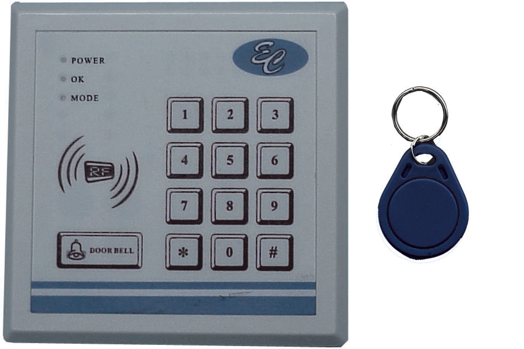 Keypad /Prox Reader, 3-In-1 Entry Control with Prox Tags EC-PRK1-Access Controls-EC-Jayso Electronics