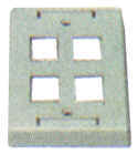 Keystone Outlet Plate - Multi Port, Surface Mount KWPXS-Network & Computing-Various-4-Jayso Electronics