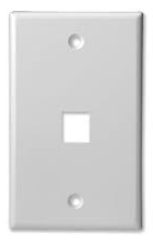 Keystone Outlet Plate - One Port, Flush Mount KWP-Network & Computing-Various-One-Jayso Electronics