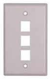 Keystone Outlet Plate - One Port, Flush Mount KWP-Network & Computing-Various-Three-Jayso Electronics