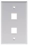 Keystone Outlet Plate - One Port, Flush Mount KWP-Network & Computing-Various-Two-Jayso Electronics