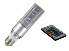LED Crystal Light, 16-Color 4-Effect, with Wireless Remote Control, EC-FLED-CRS-LED Lighting-EC-Jayso Electronics