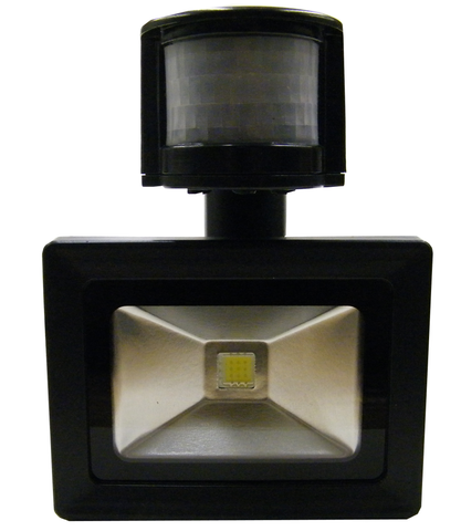 LED Motion Sensor Floodlight, 10 Watt, Weatherproof, EC-WPLED-MS10-LED Lighting-Elyssa Corp.-Jayso Electronics