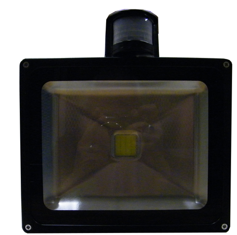 LED Motion Sensor Floodlight, 30 Watt, Weatherproof, EC-WPLED-MS30-LED Lighting-Elyssa Corp.-Jayso Electronics