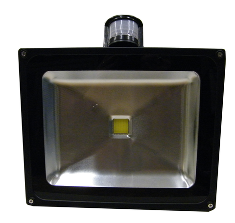 LED Motion Sensor Floodlight, 50 Watt, Weatherproof, EC-WPLED-MS50-LED Lighting-Elyssa Corp.-Jayso Electronics