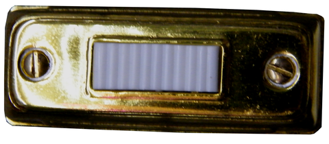 Lighted Gold Slim Bar Doorbell Pushbutton BC265LG-Access Systems-Various-Jayso Electronics