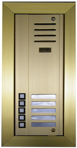 Metal 5-Button Graystone Door Station, Flush Mount, Gold Finish, 3405FG
