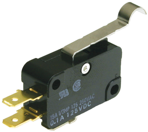 Micro Switch, Snap Action, SPDT, On/Off, with Simulated Roller Lever & Push-On Terminals, JTS-402-Electronic Repair Parts-Various-Jayso Electronics