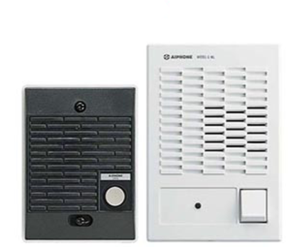 One Door Intercom Kit with 1 Interior Station, C-123L-Intercom Systems-Various-Jayso Electronics