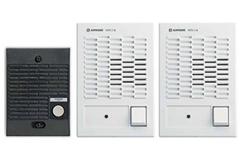 One Door Intercom Kit with 2 Interior Stations, C-123LW-Intercom Systems-Various-Jayso Electronics