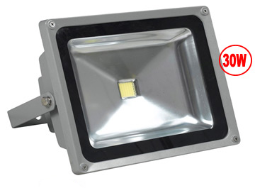 Outdoor LED Floodlight, 30 Watt, Sealed, Weatherproof, EC-WPLED-30-LED Lighting-EC-Default-Jayso Electronics
